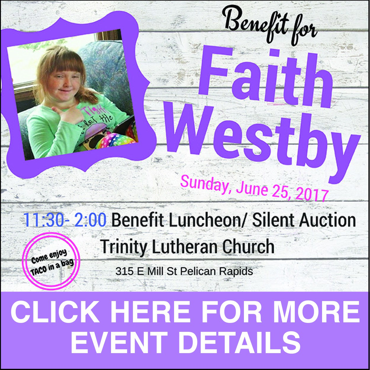 Faith Westby Benefit