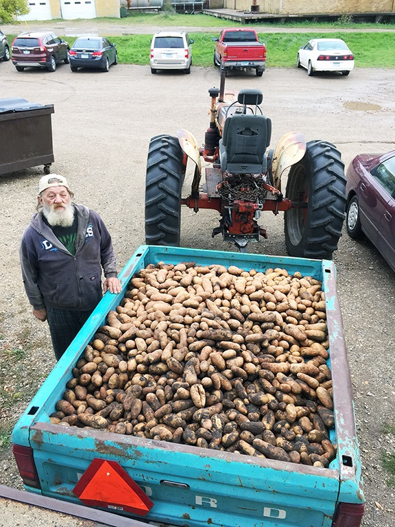 Spuds by the trailer d...